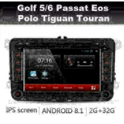 VW navigatie android 8.1 Golf Polo Touran wifi dab+ rns510